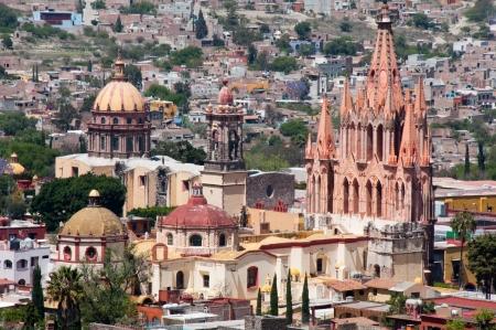 san rafael: San Miguel Arcangel Church, San Miguel De Allende  Mexico  Stock Photo