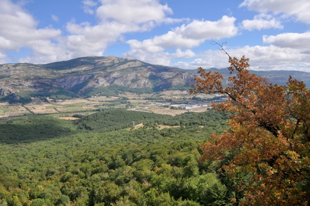 navarre: View from Beriain, San Donato range, Navarre