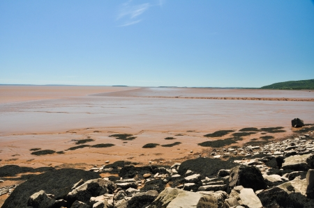Fundy bay at low tide, Canada photo