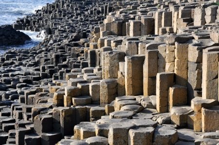 labourer: Giant s Causeway, County Antrim, Northern Ireland