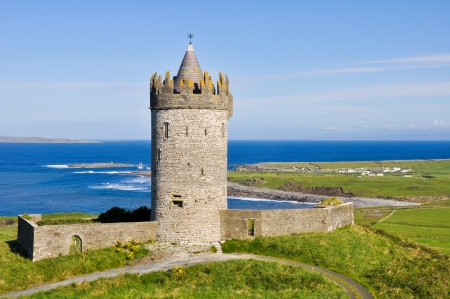 Doonagore castle, Co  Clare, Ireland Stock Photo