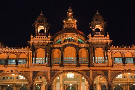The Mysore Palace at night  India  Stock Photo - 15816676