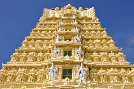 Sri Chamundeswari Temple, Chamundi Hill, Mysore, India Stock Photo - 15966847