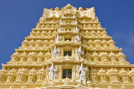 karnataka culture: Sri Chamundeswari Temple, Chamundi Hill, Mysore, India