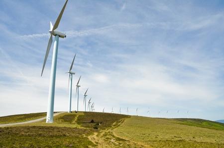 eolian: Eolian generators,  Basque Country  Stock Photo
