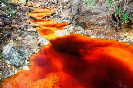 source of iron: Source of Tinto river, Andalusia, Spain Stock Photo