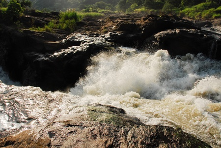 Rapids at Murchison Falls on the Victoria Nile, northern Uganda photo