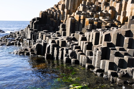 volcanic stones: Giant s Causeway, County Antrim, Northern Ireland