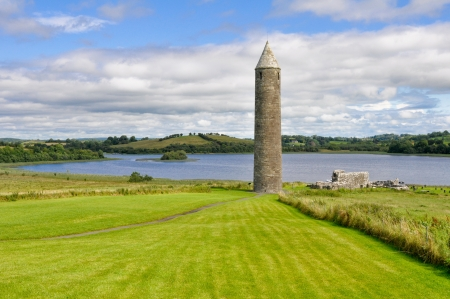 historical sites: Devenish Island Monastic Site, Co Fermanagh, Northern Ireland