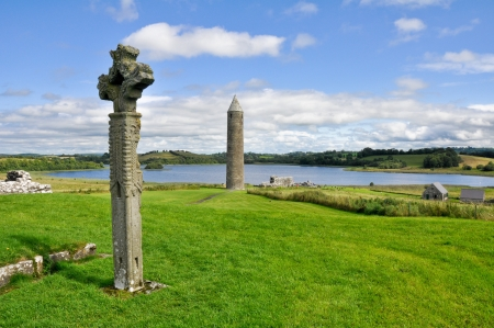 Devenish Island Monastic Site, Co Fermanagh, Northern Ireland Stock Photo - 16483383