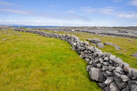 aran islands: Irish Landscape, Inishmore, Aran islands in Ireland