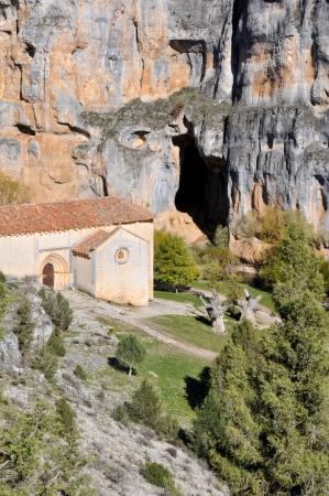 bartolome: San Bartolome Hermitage, Lobos river Canyon, Soria  Spain  Stock Photo