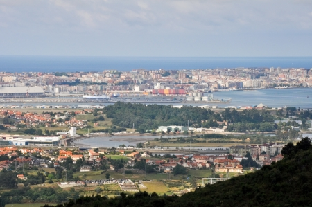 Panoramic view of Santander, Spain
