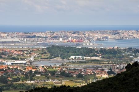 santander: Panoramic view of Santander, Spain