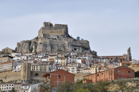 Walled town of Morella, Castellon, Spain Stock Photo - 16968479