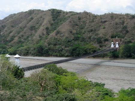 fe: Western Bridge, Santa Fe de Antioquia, Colombia Stock Photo
