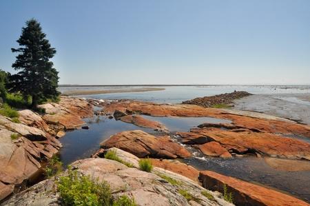 north shore: Low tide at North Shore, Quebec, Canada