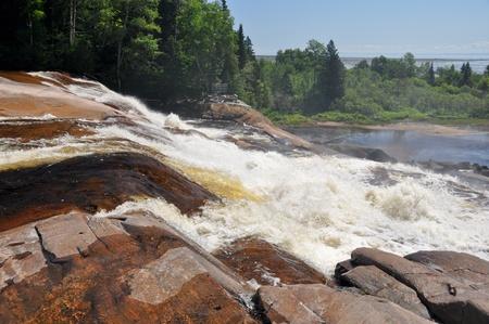 lawrence: Waterfalls at North Shore, Quebec, Canada