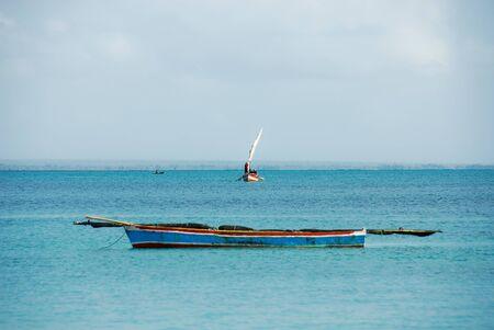 Traditional boats at Pangane Beach, Mozambique Stock Photo - 17097831