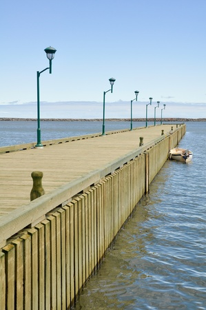 lawrence: Boardwalk at Riviere au Renard, Quebec, Canada