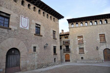 Renaissance palace, Mirambel, Spain Stock Photo - 17327170