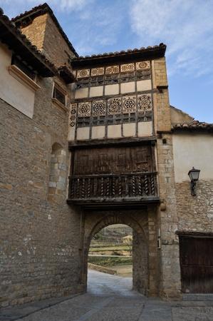 nuns: Nuns gate, Mirambel, Spain