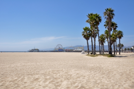 Santa Monica Beach, California, USA Stockfoto