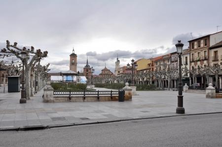 Cervantes square, Alcala de Henares, Madrid province, Spain Stock Photo - 17858735