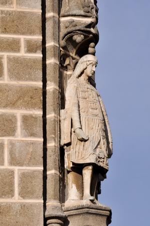 Statue at Monastery of San Juan de los Reyes, Toledo, Spain