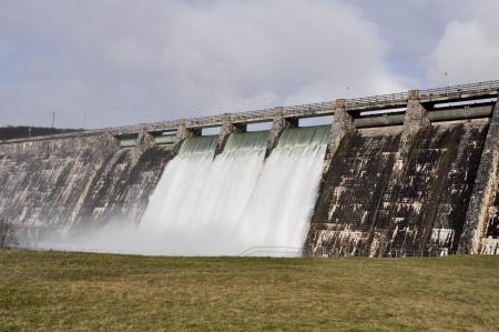 alava: Dam over Zadorra river, Basque Country, Spain Stock Photo