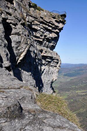 alava: Balcony at Delika Canyon, North of Spain Stock Photo