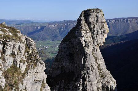 alava: Fraile peak at Sierra Salvada, Spain Stock Photo