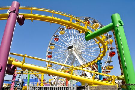 The amusement park on the Santa Monica Pier, California