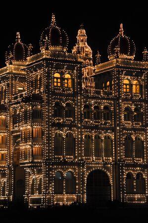 Mysore Palace at night, India Stock Photo - 17877722
