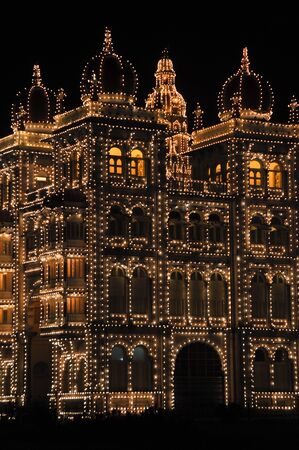 Mysore Palace at night, India Stock Photo - 17877722