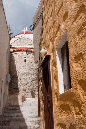 ano: Alley in Ano Syros, Greece
