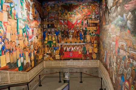 Murals at Government Palace of Tlaxcala (Mexico)