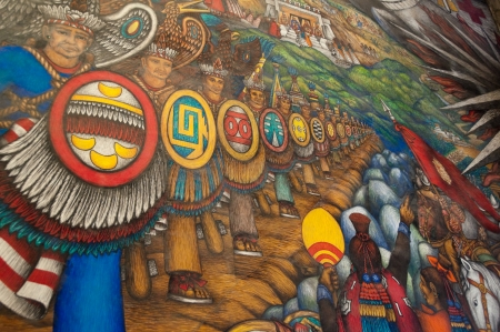 mexico culture: Murals at Government Palace of Tlaxcala (Mexico)
