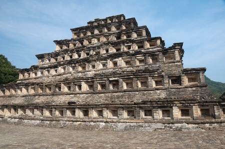 mesoamerica: Pyramid of the Niches, El Tajin, Mexico