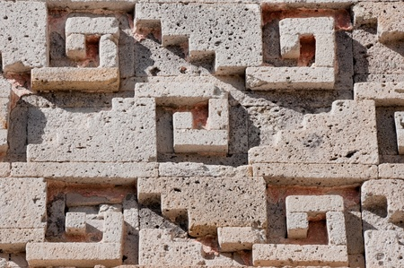 archaeological: Glyph in archaeological site of Mitla, Oaxaca, Mexico