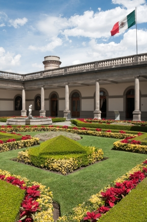 Courtyard of Chapultepec castle, Mexico city