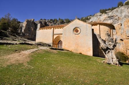 bartolome: San Bartolome Hermitage, Lobos river Canyon, Soria, Spain Stock Photo