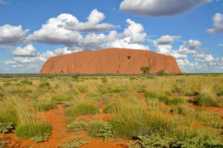 large rock: Uluru (Ayers Rock) is a large sandstone rock formation in the Northern Territory, Australia. This rock is sacred to the Aboriginal people.