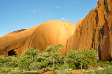 Uluru (Ayers Rock) is a large sandstone rock formation in the Northern Territory, Australia. This rock is sacred to the Aboriginal people.