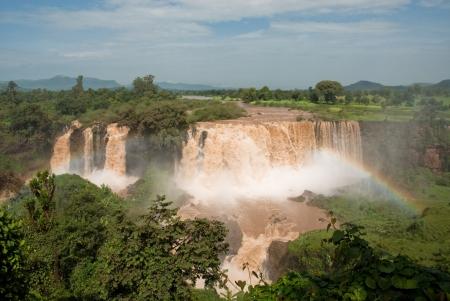 Tiss abay Falls on the Blue Nile river, Ethiopia photo