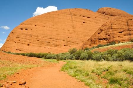 Hike across The Olgas, Northern Territory, Australia Stock Photo - 20691062