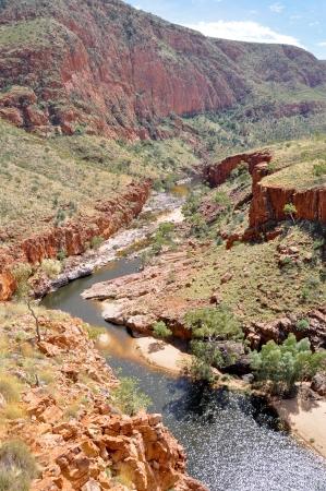 ranges: Ormiston Gorge, il West MacDonnell Ranges, Australia Archivio Fotografico