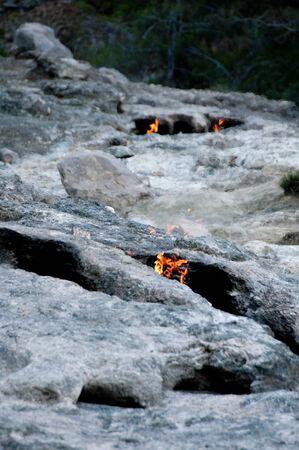 chimera: Mount Chimera, eternal flames in ancient Lycia, Turkey