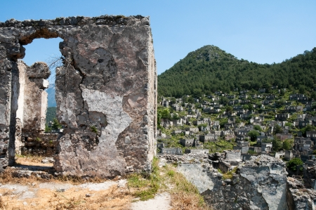 kayakoy: Ghost town of Kayakoy, Turkey