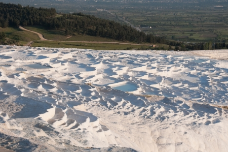 Travertine pools and terraces in Pamukkale, Turkey photo